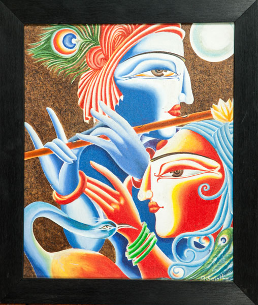 Shyam art works tanjore painting rajasthan painting for Mural glass painting