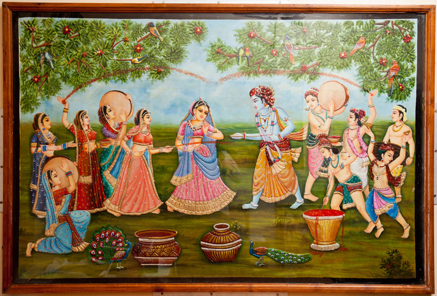 Shyam art works tanjore painting rajasthan painting for Mural painting images